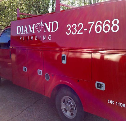 Diamond Plumbing van