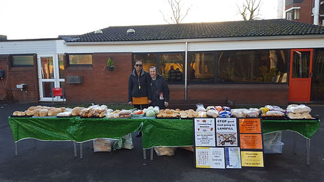 Food stall at a Family Group school