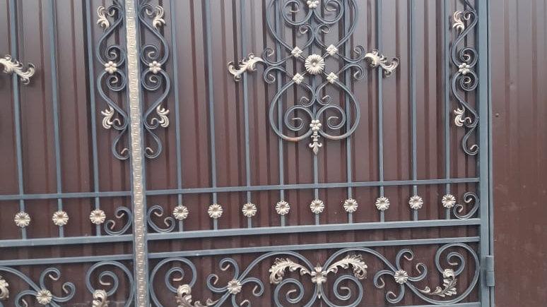Ворота с калиткой Арт. 10