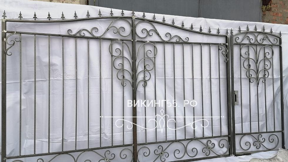 Ворота с калиткой В-55