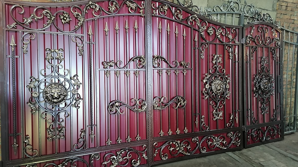 Ворота с калиткой Арт. 5-3