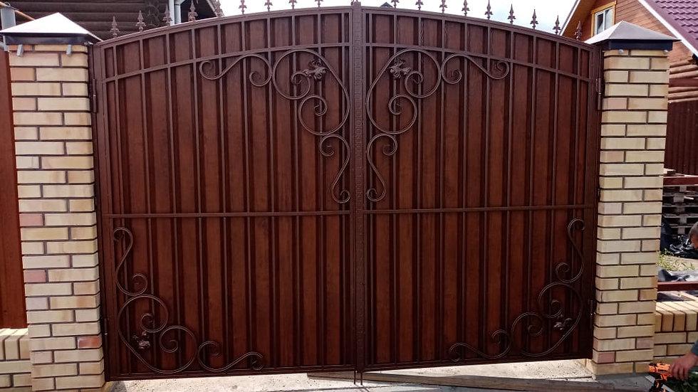 Ворота с калиткой Арт. 12-2