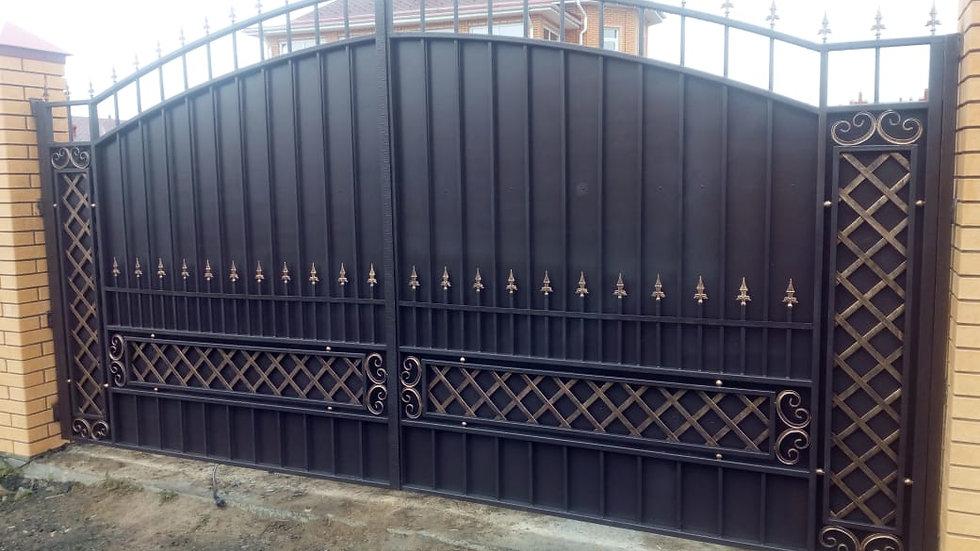 Ворота с калиткой Арт. 9-3