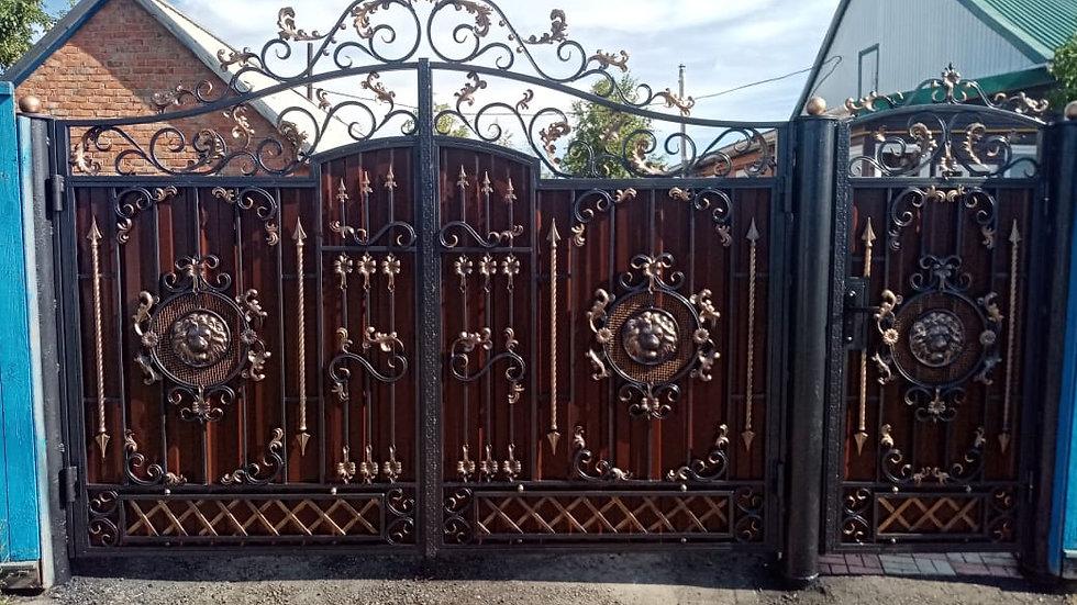 Ворота с калиткой Арт. 5