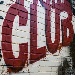граффити в борцовском клубе