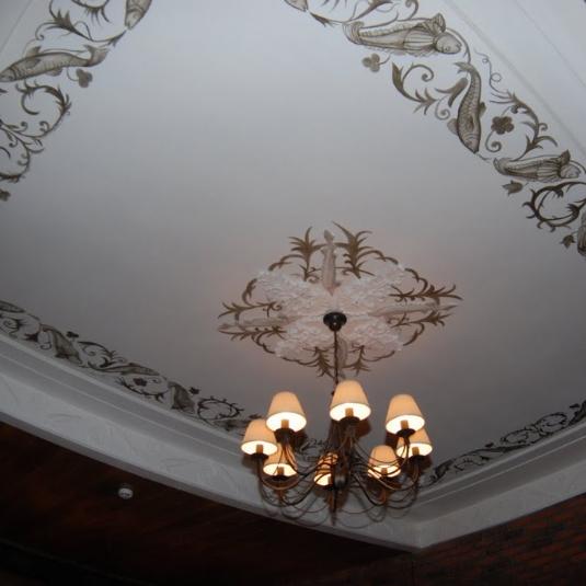 роспись потолка кафе