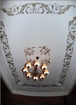 роспись потолка кафе москва
