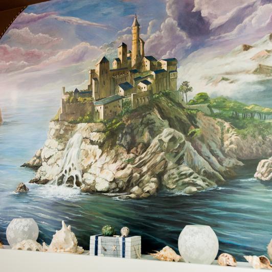 замок роспись фентези