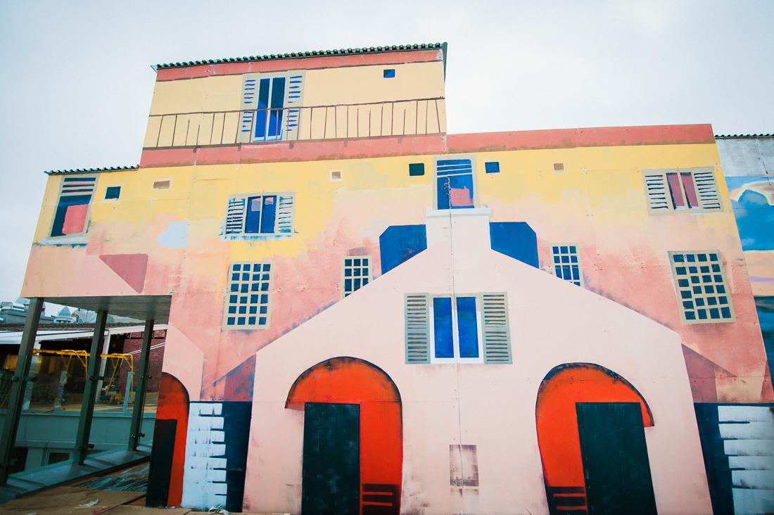 Роспись фасада здания