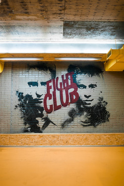 fight club mural граффити спортзал