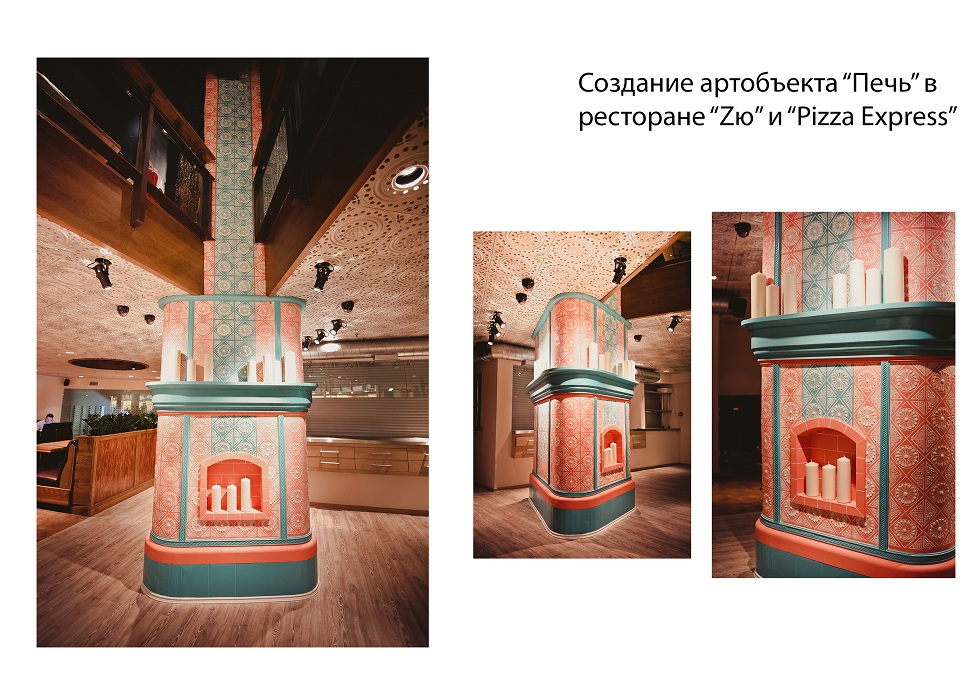 создание арт-объекта камин для кафе