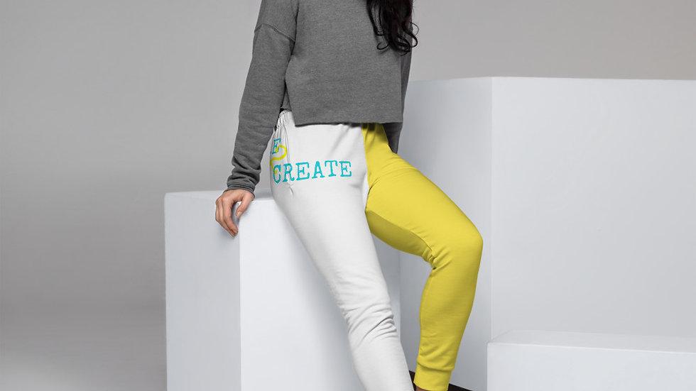Yellow Print Women's Joggers