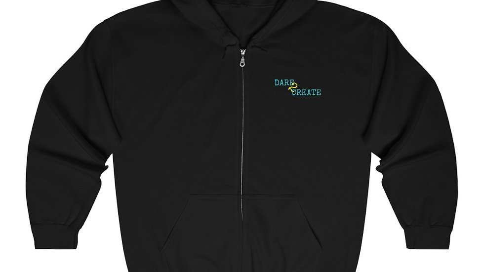 Dare to Create Unisex Heavy Blend™ Full Zip Hooded Sweatshirt