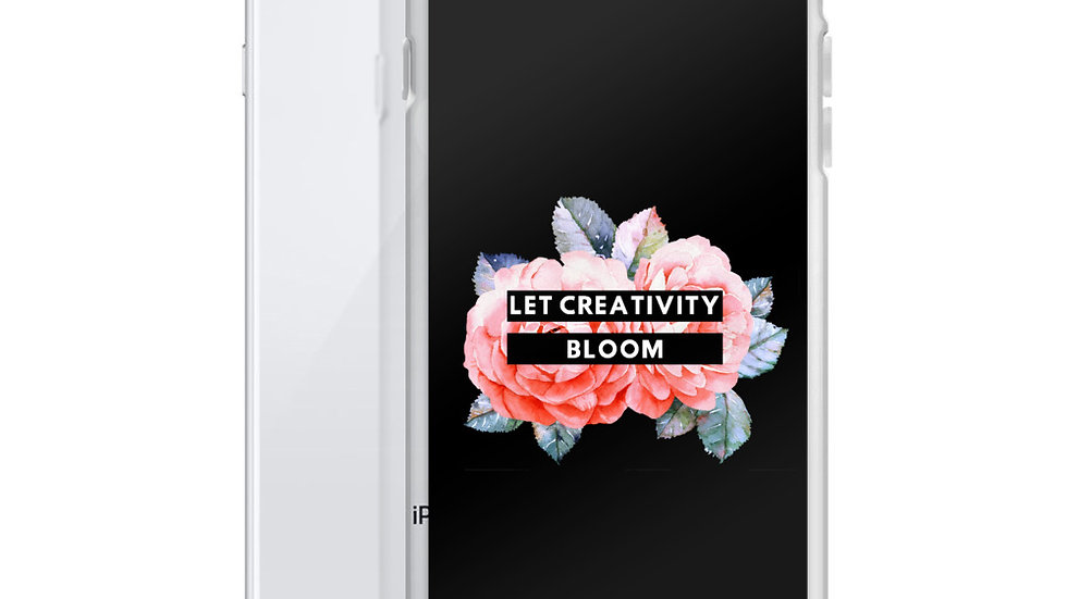 Let Creativity Bloom Black iPhone Case
