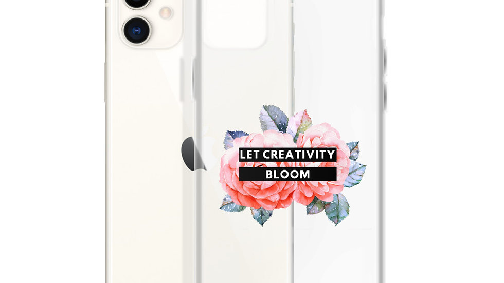 Let Creativity Bloom Clear iPhone Case