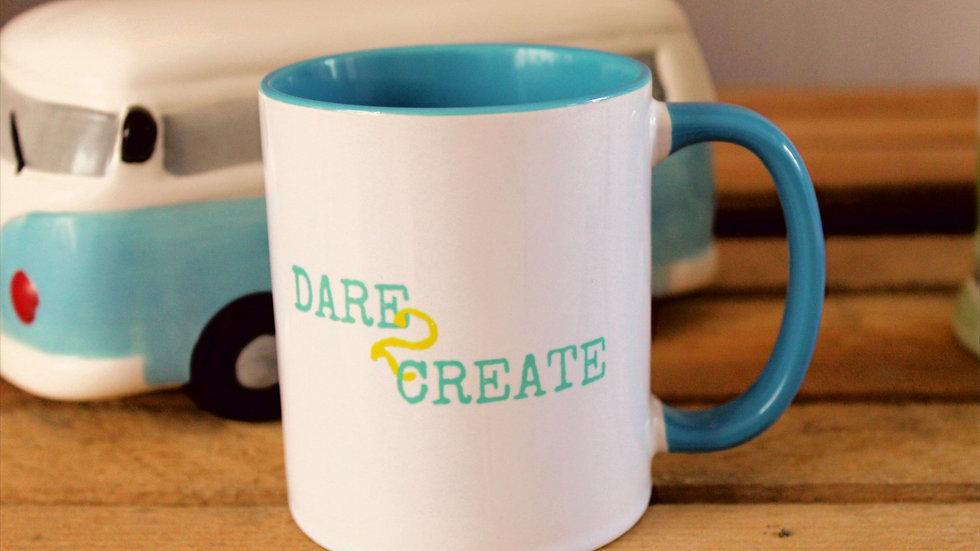 Dare 2 Create Small Print 2 Colour Mug
