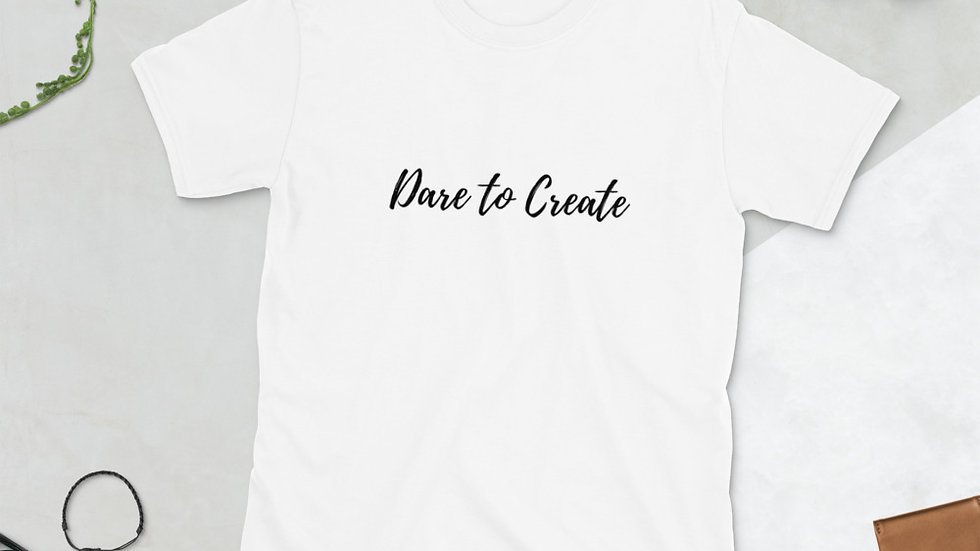 Dare to Create Calligraphy T-Shirt (Black Print)