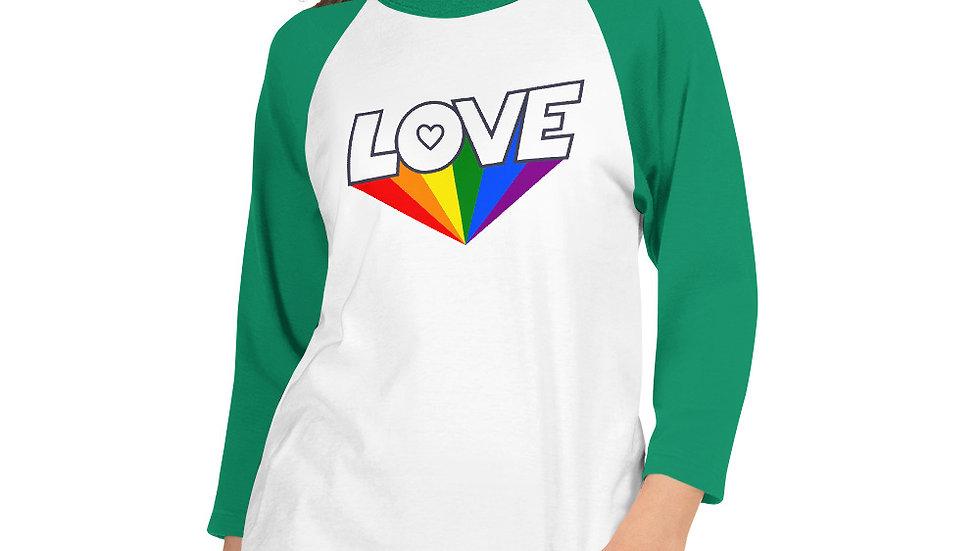 Love in Colour 3/4 sleeve raglan shirt