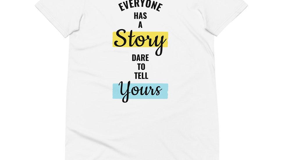 Everyone Has A Story Organic cotton t-shirt dress
