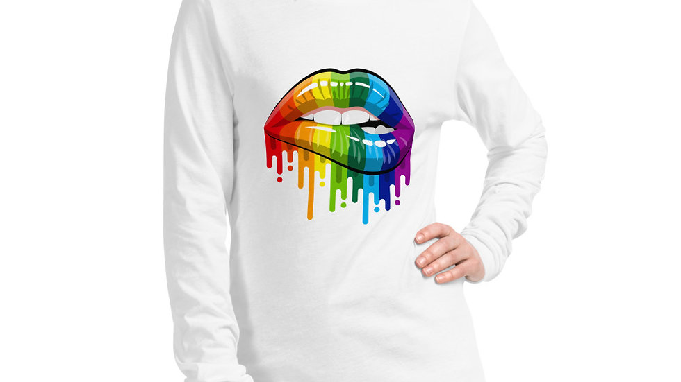 Rainbow Lips Long Sleeve Tee