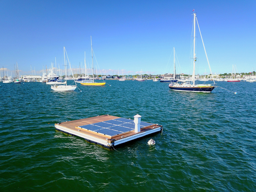 The Blue Isles system is the world's first floating microgrid, capable of recharging electronic propulsion vessels and marine batteries. -- Ian Purdy, freelance drone photographer