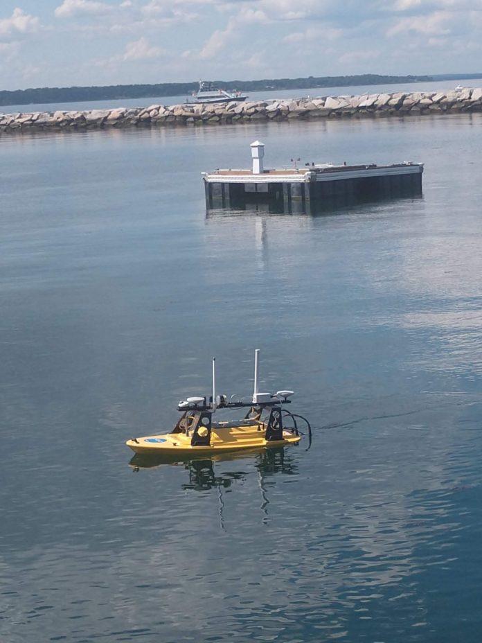 remote solar powered UUV charging