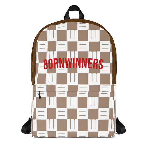 BORNWINNERS BW checkered Backpack