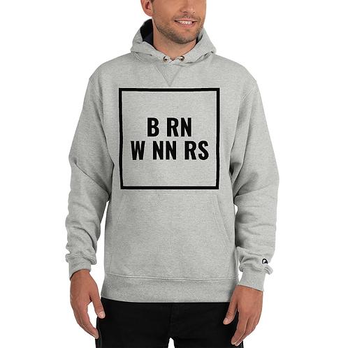 BRN WNNRS BOLD CHAMPION HOODIE GRY/BLK
