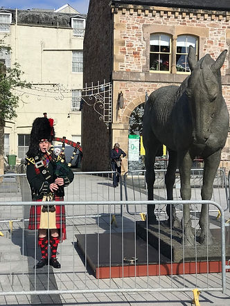 A Day In Inverness. A Black Watch Piper