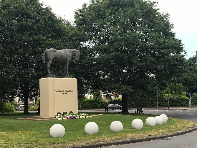 The War Horse Memorial on the Ascot roun