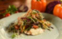 Салат с подкопченным слабосоленым лососе