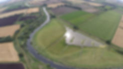 Arial view of Ely Wildfowlers land