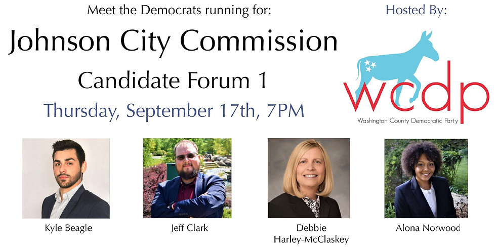 WCDP Johnson City Commission Candidate Forum 1-- Small Business Development & Johnson City Goals