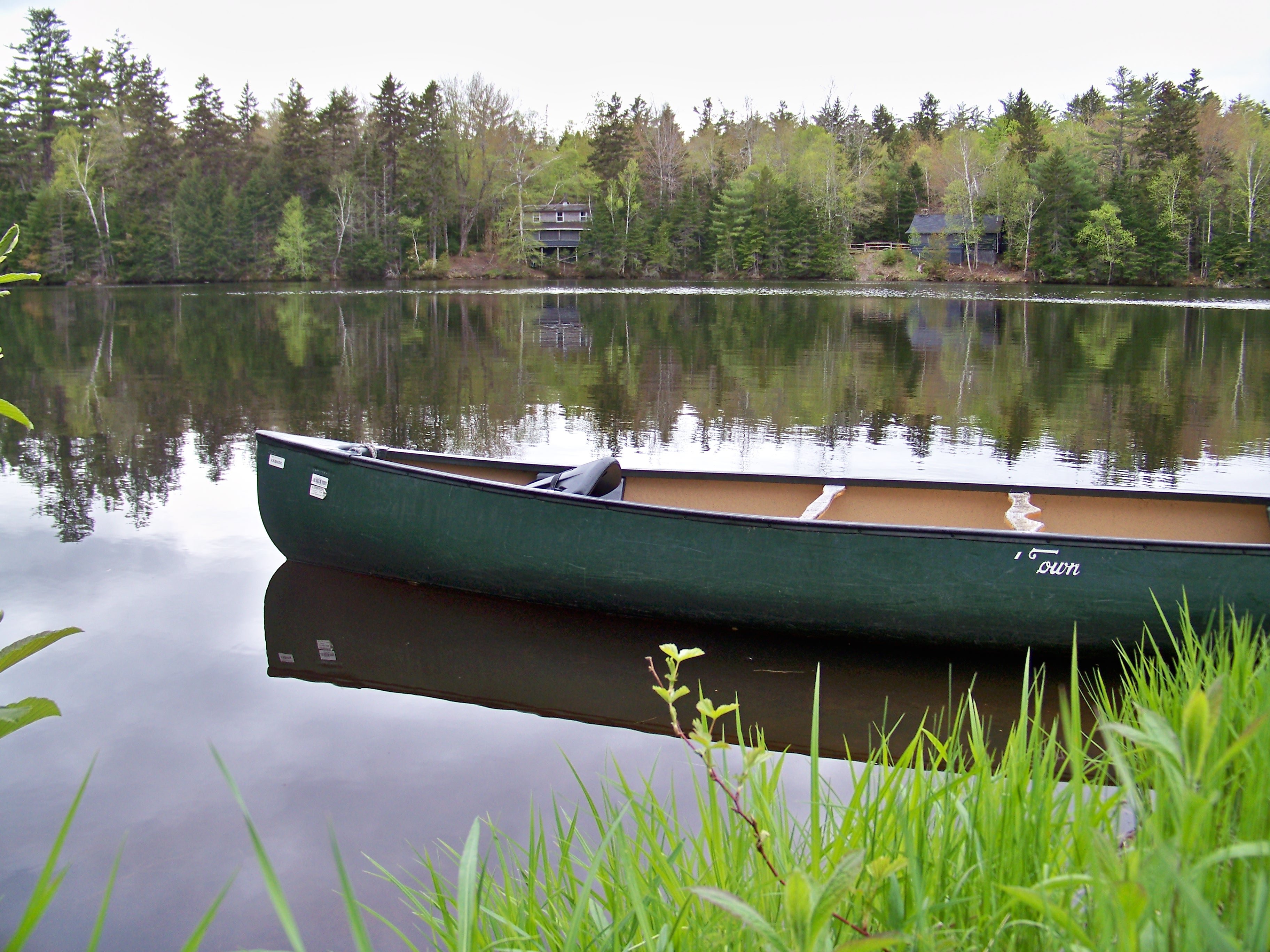Canoe on the pond