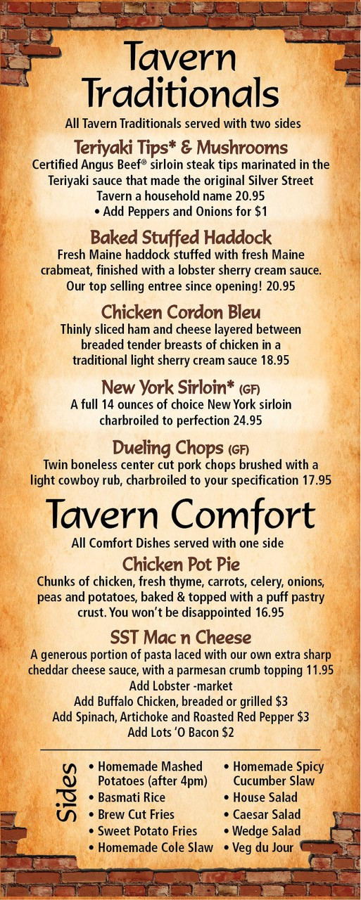 SST Menu Comfort Food