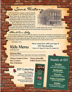 Silver Street Tavern Menu Kids Menu Weekly Specials