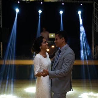 Lighting, sound and DJ for the wedding of Alondra&Hilario
