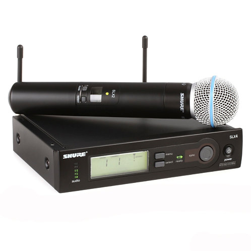 Shure SLX24/BETA58 Handheld Wireless Microphone System - H19 Band