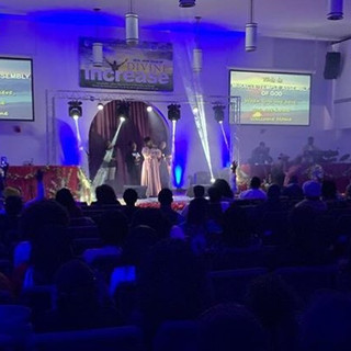 Lighting services for Miracle Temple Assembly of God live concert
