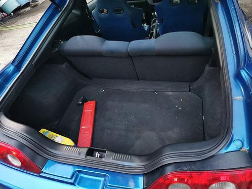DC5 Integra rear interior trim with rear seats.