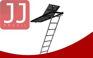 JJ Brasil - Produtos para Andaime Multidirecional   Escada para Piso com Alçapão
