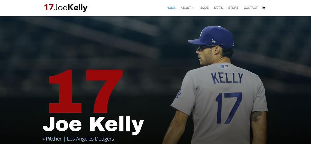 Joe Kelly Personal Website Homepage