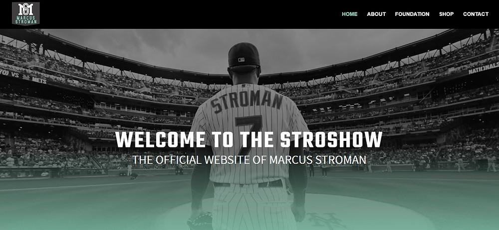 Marcus Stroman Personal Website Homepage (Stroshow)
