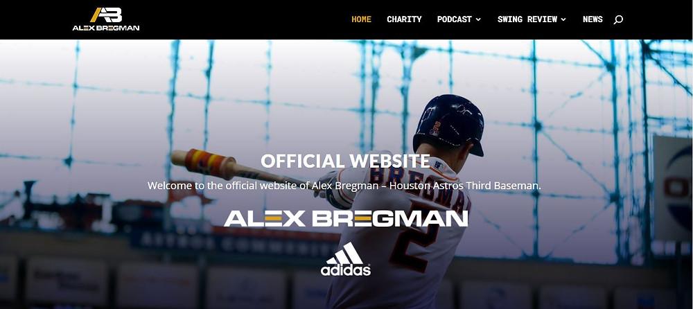 Alex Bregman Personal Website Homepage