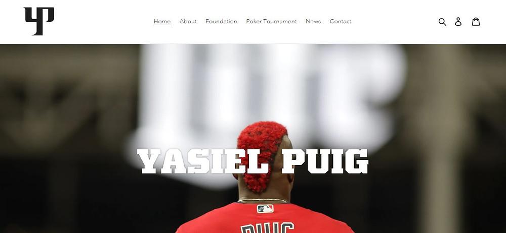 Yasiel Puig Personal Website Homepage
