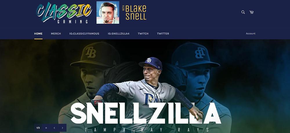 Blake Snell Personal Website Homepage (Snellzilla)