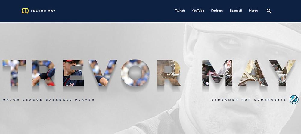 Trevor May Personal Website Homepage (IamTrevorMay)