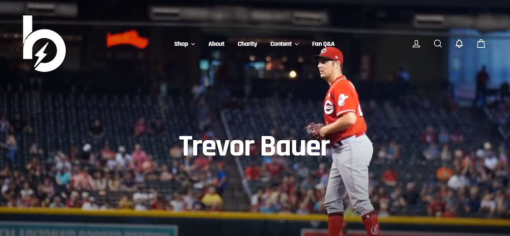 Trevor Bauer Personal Website Homepage (Bauer Outage)