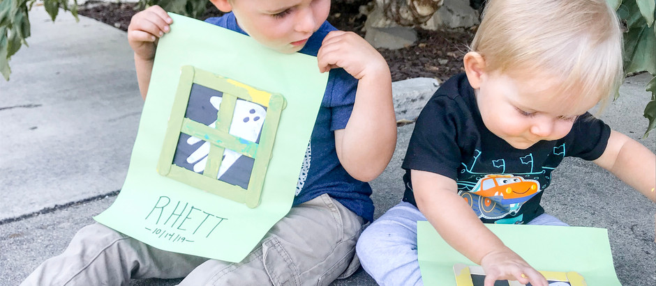 Quick + Easy Haunted Window Kid's Craft