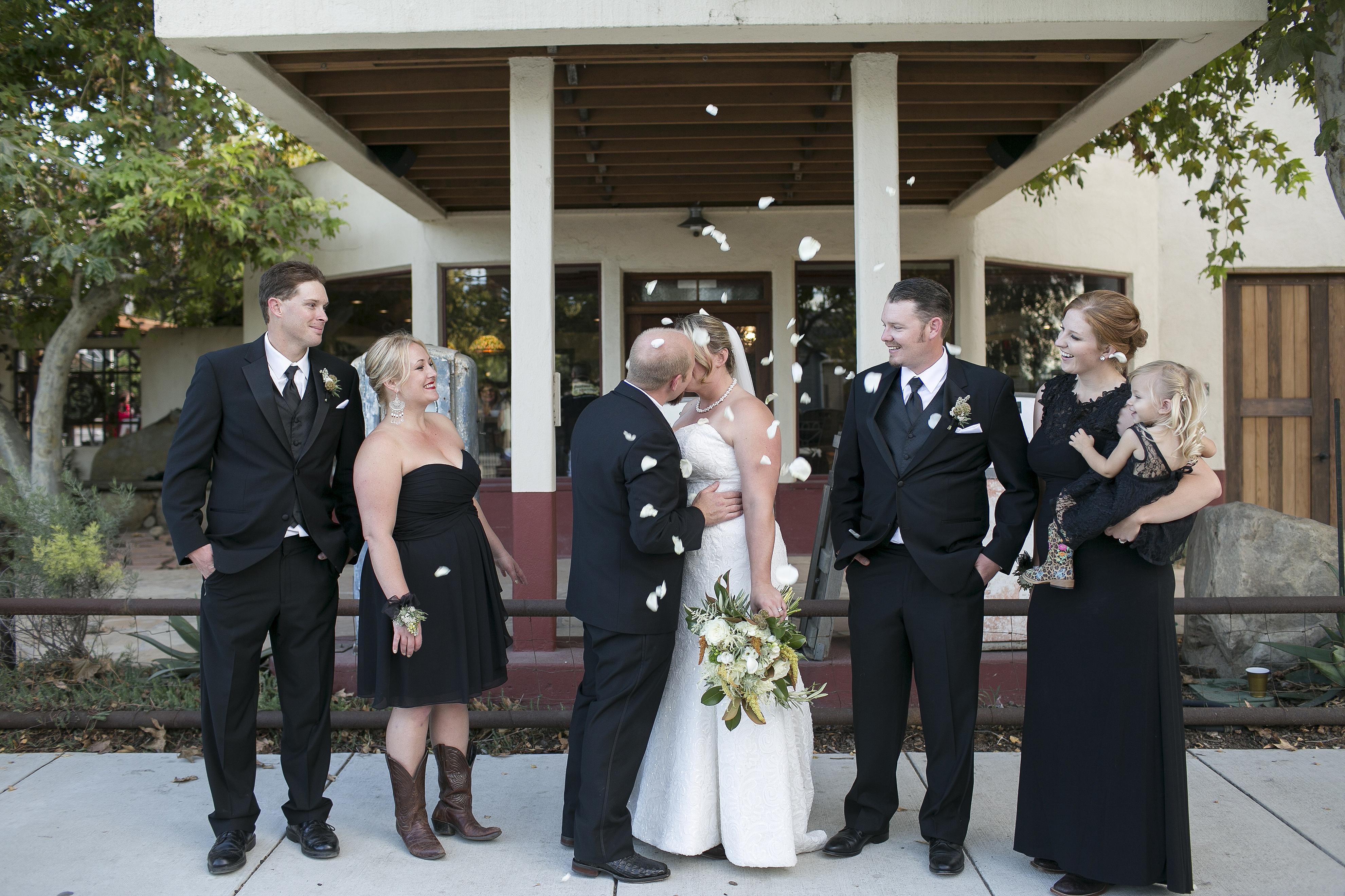 California Wedding Party